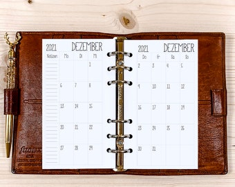 Monthly Overview・ Personal Filofax ・ 120g • 2022