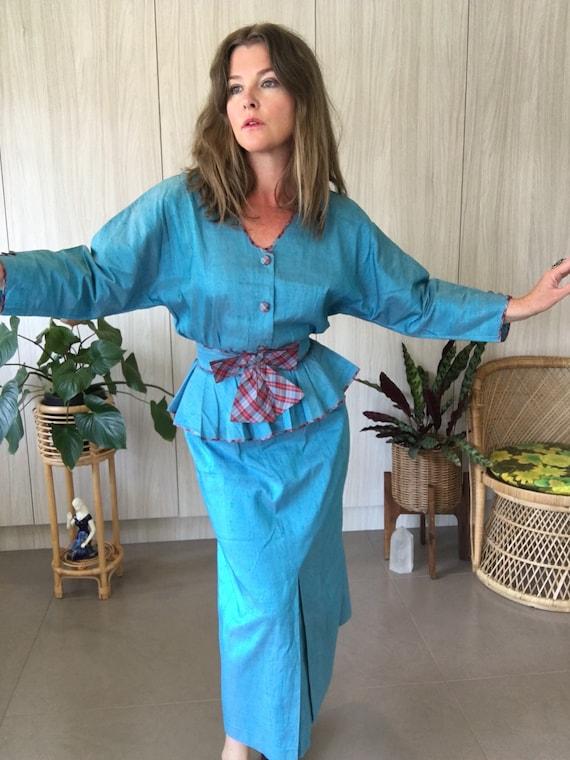 Fabulous, 80's, Anna Belinda, Two Piece, Tartan, T
