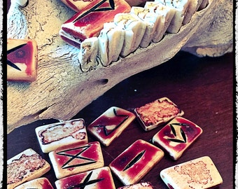 Real Bone and Blood Runes - Elder Futhark
