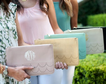 Monogrammed Ava Clutch, Personalized Clutch, Handbag, Free Monogram, Personalzied Bridesmaids Gifts, Custom Christmas Gifts.
