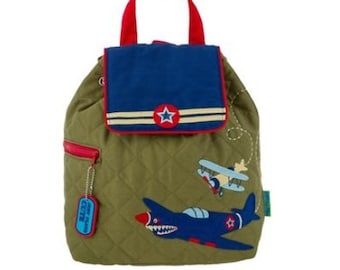 RETRO AIRPLANE Quilted Backpack by Stephen Joseph