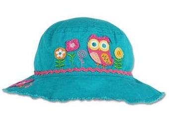 TODDLER Stephen Joseph Owl Bucket Hat, Kids Summer Hat, Sun Hat, Children's Bucket Hat.