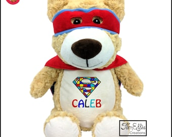 HERO BEAR Personalized Cubbies, Stuffed Animal Gift, Birth Stats, Monogrammed Gift, Personalized Teddybear* Plush Toys*