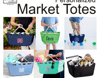 Easter Basket, Market Tote, Shopping Tote, Kids Market Tote, Market Basket, Shopping Basket, Perosnalized Tote