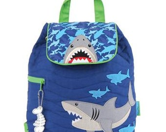 SHARK, Personlaized Kids Quilted Backpack, Personalized Toddler Backpack, Kids Backpack Shark, Children's Backpack, Ocean.