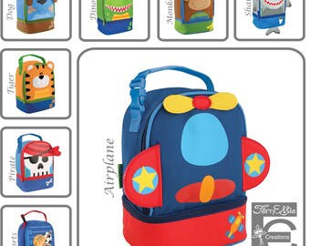 Personalized Lunch Box, Stephen Joseph, Monogram Lunch Pals, Tiger, Airplane, Pirate, Shark, Monkey, Dino, Dog, Sports, Baseball, Lunch Bag