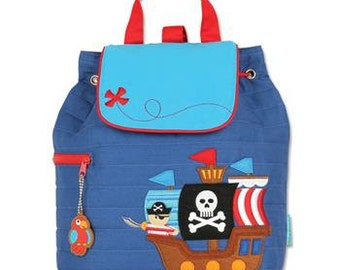 PIRATE Quilted Backpack By Stephen Joseph