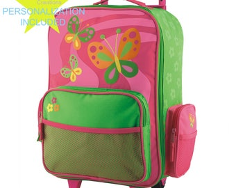BUTTERFLY Stephen Joseph Classic Rolling luggage