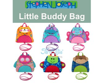 LITTLE BUDDY BAG, Personalized Toddler Backpack With Safty Harness and Strap, Little Buddy Bag, Little Backpack. FREE_MONOGRAM