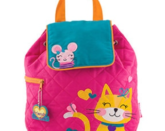 Stephen Joseph Quilted Cat and Mouse Backpack
