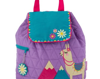 LLAMA, Personalized Kids Quilted Backpack, Monogrammed Kids Backpack, Children's Backpack, Preschool Backpack