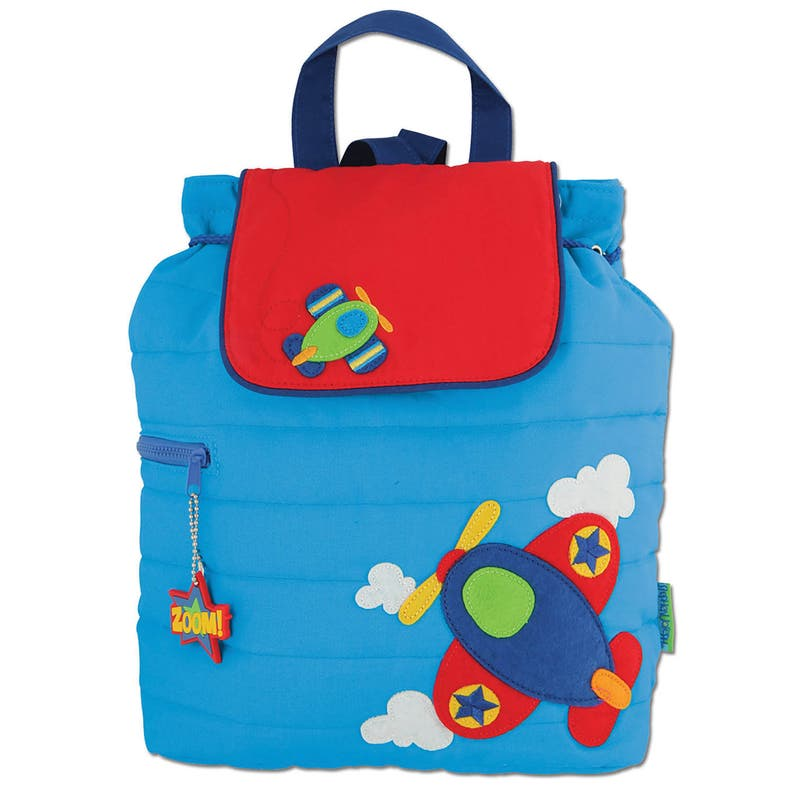 82a89f468e AIRPLANE Personalized Toddler Quilted Airplane Backpack