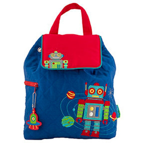 Stephen Joseph Quilted Robot Backpack