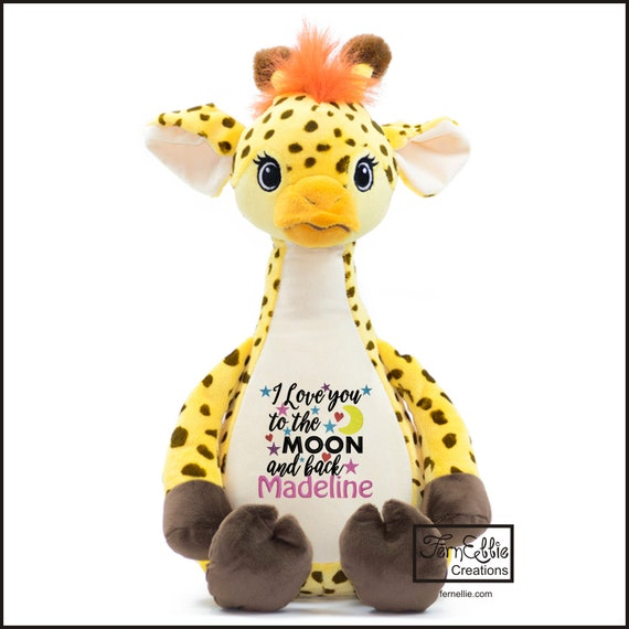 TUMBLEBERRY the GIRAFFE Personalized Cubbies, Stuffed Animal Gift, Birth Stats, Monogrammed Gift, Personalized Teddybear* Plush Toys*