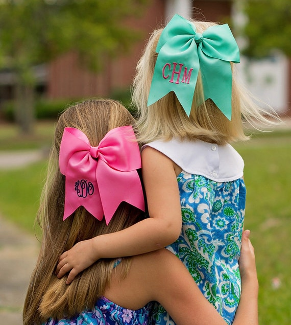 Personalized Hair Bow, Cheer Leader Hair Bow, Monogrammed Hair Bow, Easter Hair Bow, Seersucker Hair Bow.