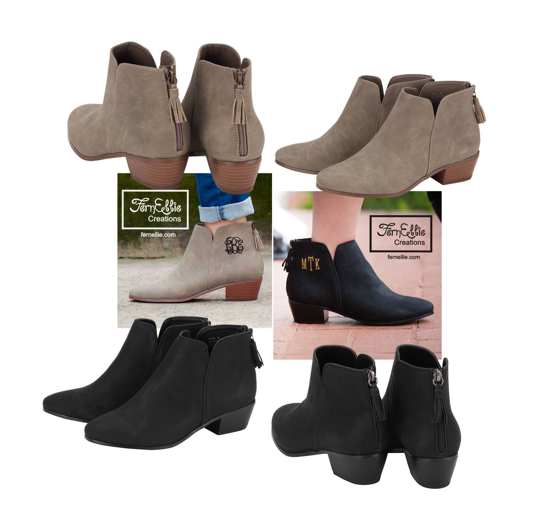 SHIPS OUT NEXT Day! Monogrammed Boots, Personalized Boots