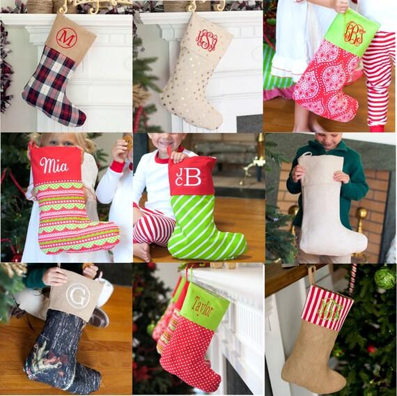 FREE PERSONALIZATION, Christmas Stockings, Personalized Stockings, Monogrammed Stockings
