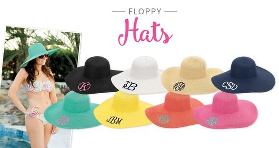 Floppy Hat, Sun Hat, Monogram Summer Hat, Summer Hat, Floppy Summer Hat, Beach Hat, Pool Hat, Straw Hat, Panama Hat, Cruise Hat.