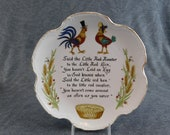 Humorous Rooster Chicken Collectible Plate 8 quot Diameter -Poem, Poetry, Humor, Wheat, quot You Haven 39 t Laid an Egg quot , Ceramic, Scalloped, Hanging