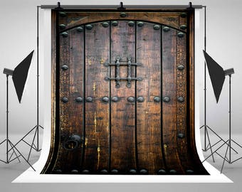 Charmant Antique Wood Door Photography Backdrops Retro Dark Wooden Door Photo  Backgrounds For Wedding Studio Props