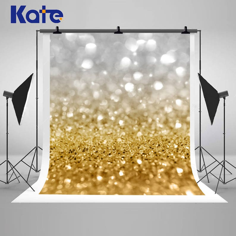 Photo Studio Background Wall Backdrops Vinyl Cloth High Quality Computer Print White Silver Bokeh Lights Background Colours Are Striking