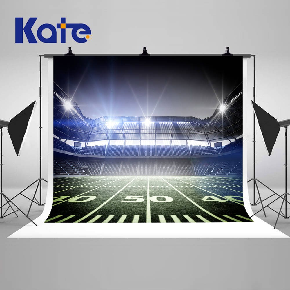 Football Stadium Night Lights: Football Fields Lights Night Photography Backdrops Stadium