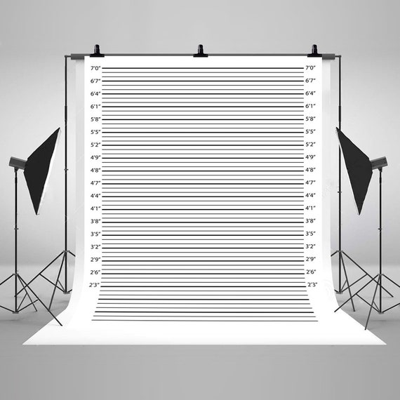 5 ft by 4 ft Cloth Photo Booth Backdrop for Mugshot Signs Quality Digitally Printed Image!