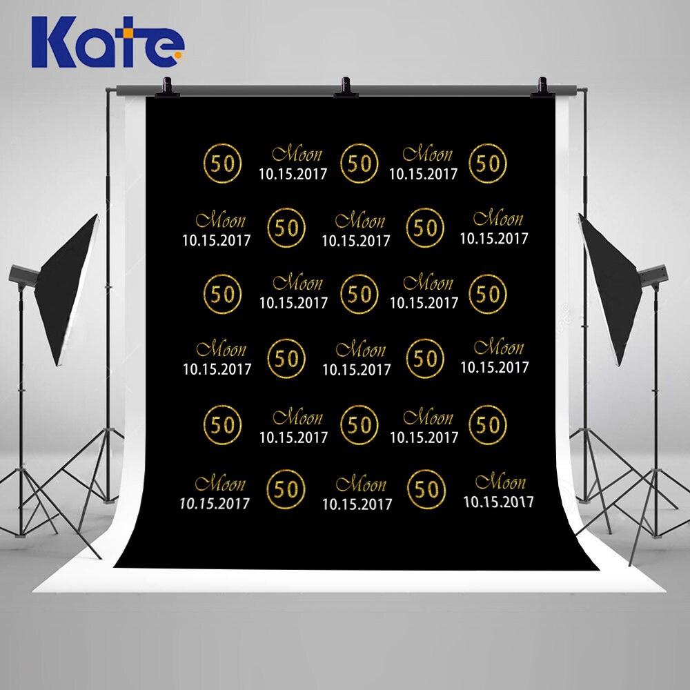 50th Birthday Gold Glittering Photography Backdrops Custom