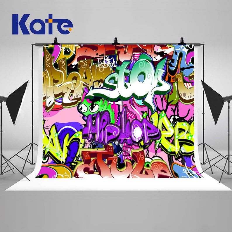 hip hop urban art graffiti wall photography backdrops seamless photo backgrounds for birthday party studio props