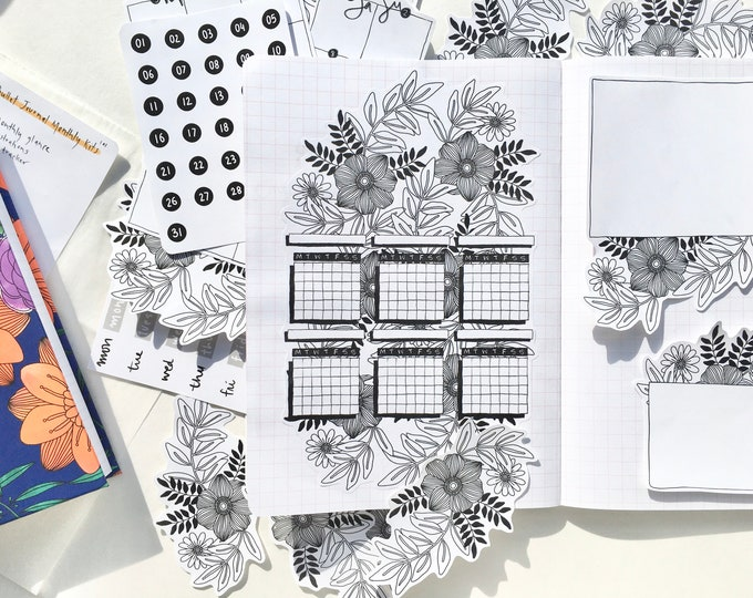 Featured listing image: 101   Bullet Journal Monthly Planner Kit   2020