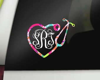 eb808c3122d4 Monogram Lilly Pulitzer Nurse Decal