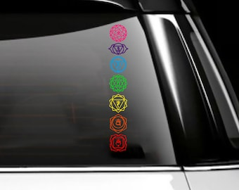 The Unquiet Dead A Psychologist Treats Spirit Possession Chakras Car Decal, 7 chakras,