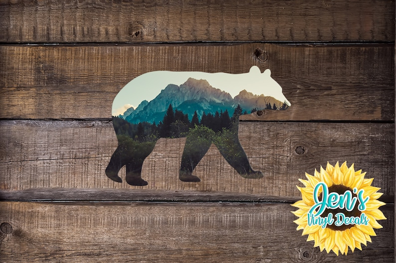 Adventure Decal Bear Laptop Sticker Bear Car Decal Laptop image 0
