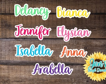 Two Color Name Vinyl Decal Name Sticker Vinyl Decal Word Decal Any Word Decal Personalized Name Decal Word Vinyl Decal Custom Name bulk