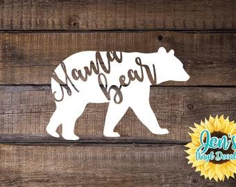 Mama Bear Decal Vinyl Decal Vinyl Stickers Car Decal Gift for Mom Car Sticker Gift For Her Window Decal Yeti Decal Mom Bear Mommy Bear