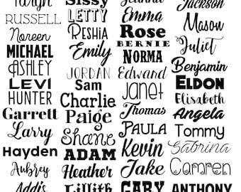 Name Decal Name Vinyl Decal Name Sticker Vinyl Decal Word Decal Any Word Decal Personalized Name Decal Word Vinyl Decal Custom Name bulk