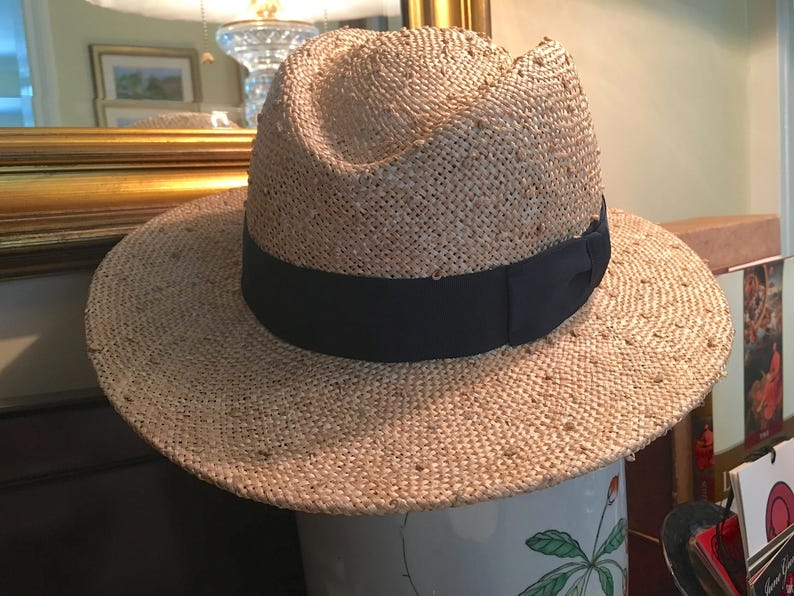 10641af9cc8 UNISEX FEDORA Knotted Straw Hat Perfect for a man or a woman