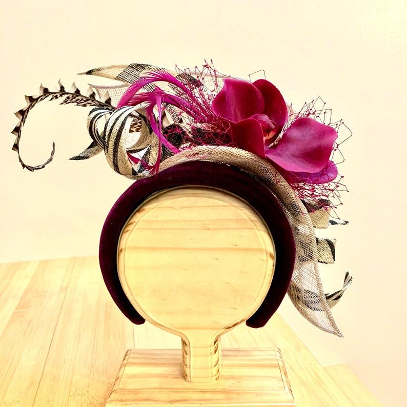 Violet headband-purple headpiece-party image 0