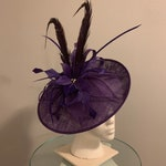 "Kentucky Derby Fascinator - ""Purple Princess Pretension"""