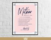 Artículos Similares A Madre Personalizado De Definición De La