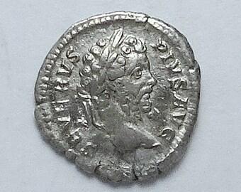SEPTIMIUS SEVERUS; Ancient Roman Silver Denarius; Rare Ludi Saeculares Reverse