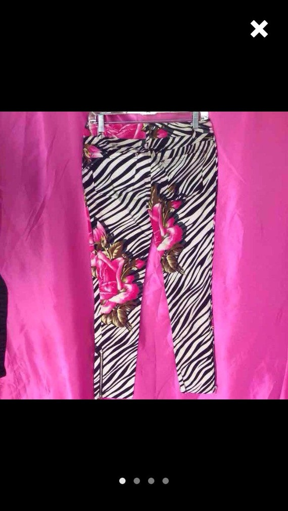 Betsey johnson pink rose tight fitted skinny stret