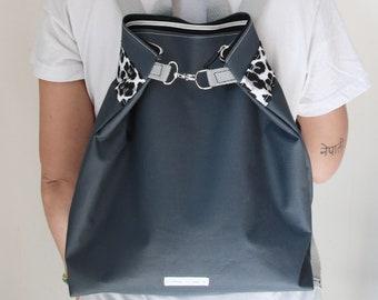 Zippered Backpack leopard print /vegan/ Mochila con cremallera leopardo
