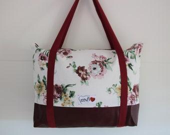 Cabin Bag Flowers / vegan / Maxi bolso flores