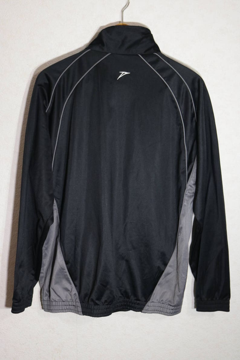 90s sports jacket Football Sweater Warmup Trainning Indie Mods Jacket Zipper Pockets Hipster Jacket Large Size