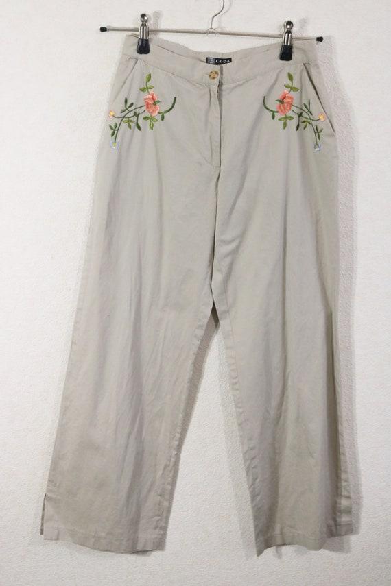 Vintage des années 90 l'été pantalon pantalons femmes