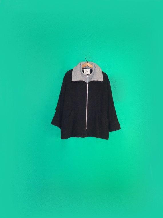 Wool Coat Vintage Black Wool Coat unisex Top Coat