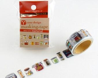Bottles & Cans washi tapes, Round Top washi tape, Yano Design Debut Series Natural | Japanese Masking Tape, Cute Craft Supplies