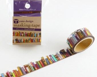 Bookshelf washi tape, Round Top washi tape, Yano Design Debut Series Natural | Japanese Masking Tape, Cute Craft Supplies