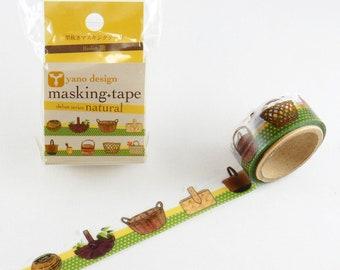 Baskets washi tape, Round Top washi tape, Yano Design Debut Series Natural | Japanese Masking Tape, Cute Craft Supplies
